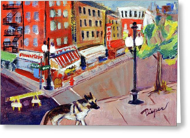 Queenie On Forsythe Street Manhattan Nyc Greeting Card