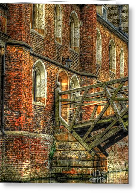 Queens' College And Mathematical Bridge Greeting Card by Yhun Suarez