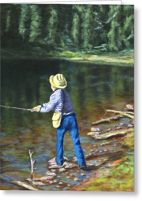 Queo Fishing At 10000 Ft Above Penasco Nm Greeting Card