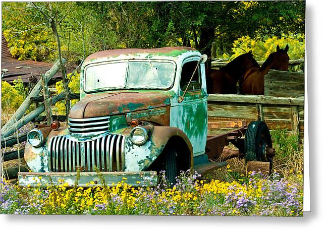 Questa Truck Greeting Card