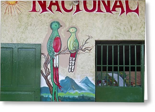 Quetzal Painting  Greeting Card by Heiko Koehrer-Wagner