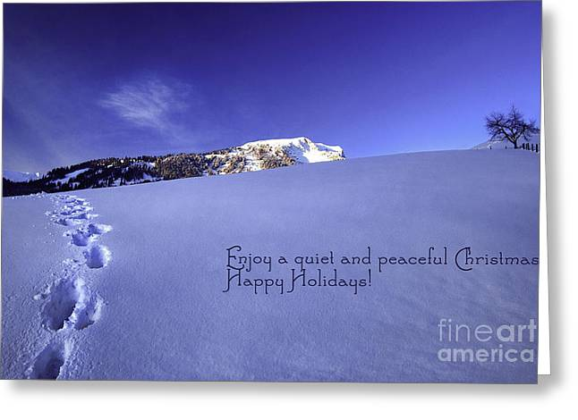 Quiet And Peaceful Christmas Greeting Card by Sabine Jacobs