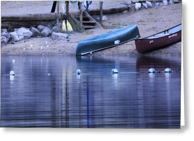 Quiet Canoes Greeting Card by Janie Johnson