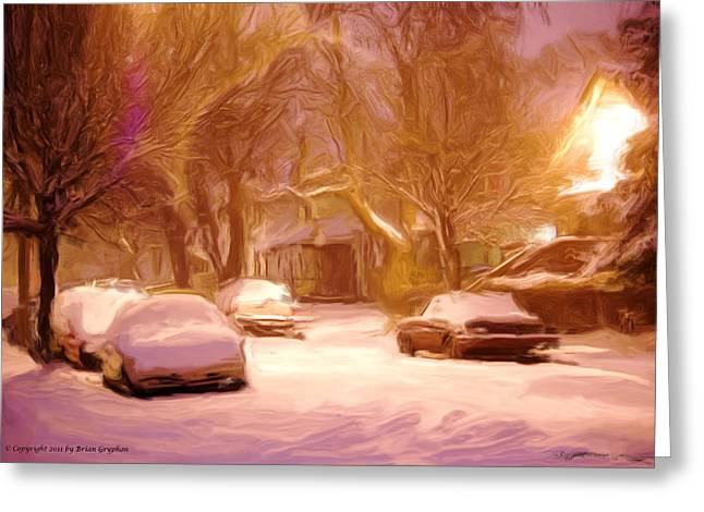 Greeting Card featuring the photograph Quiet January Night by Brian Gryphon