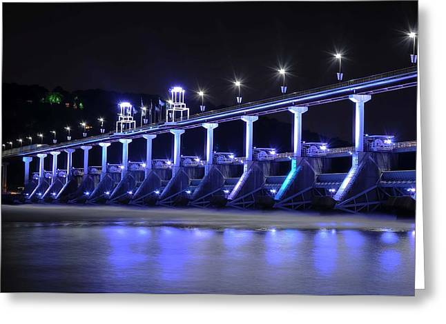 Greeting Card featuring the photograph Quiet Night On The River by Renee Hardison