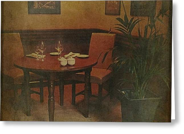 Quiet Nook In Hotel Dining Room Greeting Card