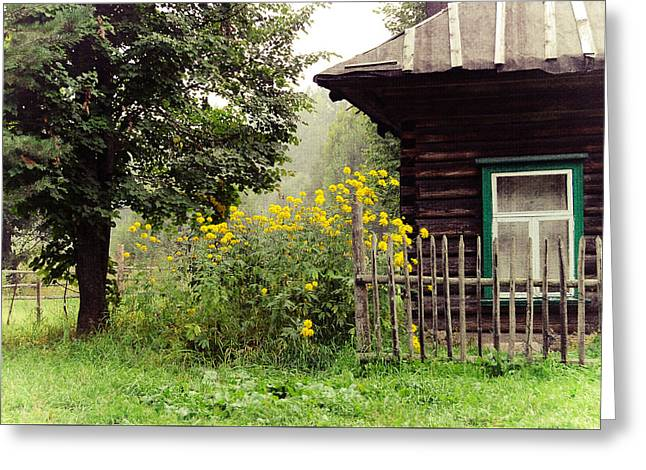 Quiet Setting. Rural Russia Greeting Card