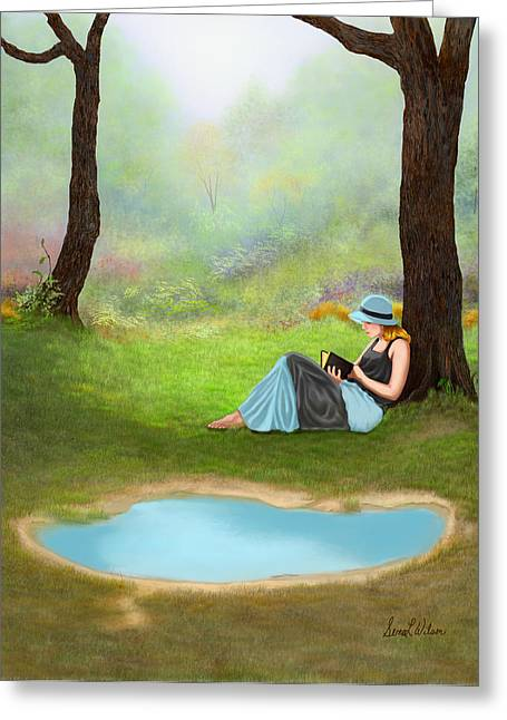 Quiet Time Greeting Card