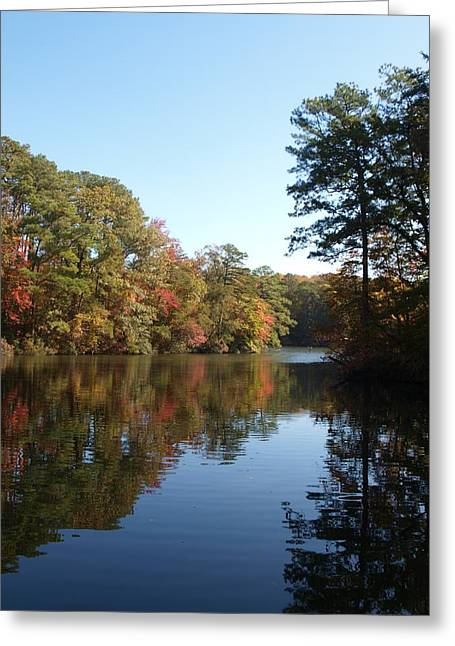 Quiet Water Greeting Card by Larry Krussel