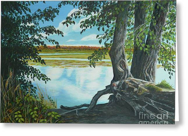 Quiet Waters Greeting Card by Sheryn Johnson