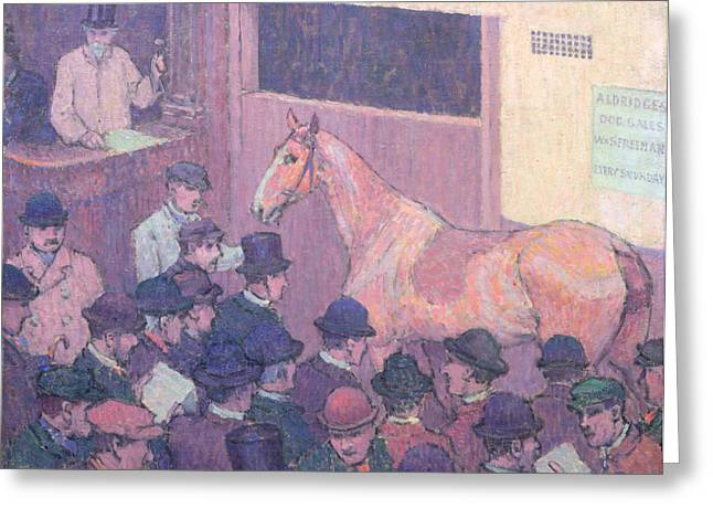 Quiet With All Road Nuisances Greeting Card by Robert Polhill Bevan