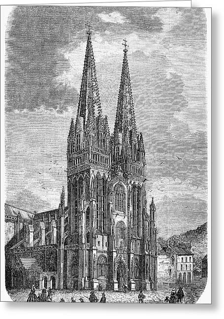 Quimper: Cathedral, 1856 Greeting Card by Granger