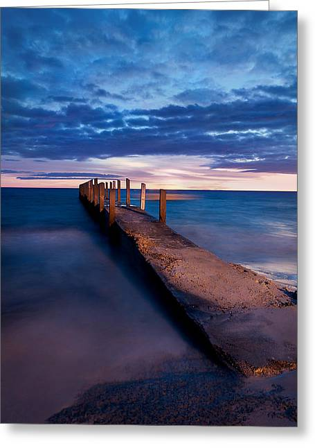 Quindalup Jetty Greeting Card by Heather Thorning