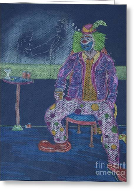 Quit Clowning Around Greeting Card by Michael Mooney