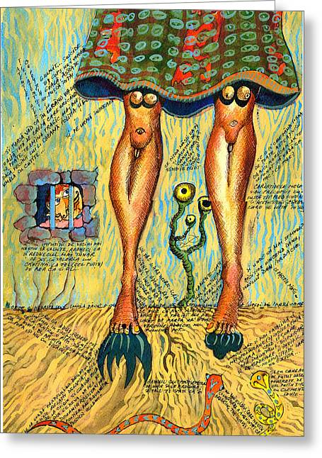 Quite A Pair Of Legs Greeting Card by Ion vincent DAnu