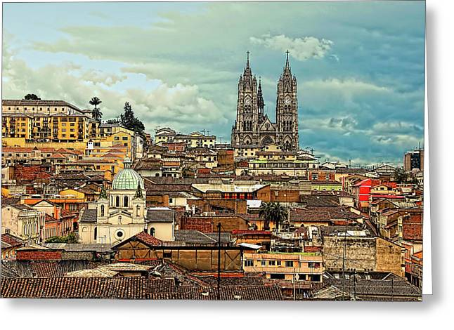 Quito Cathedral And Sorroundings Greeting Card