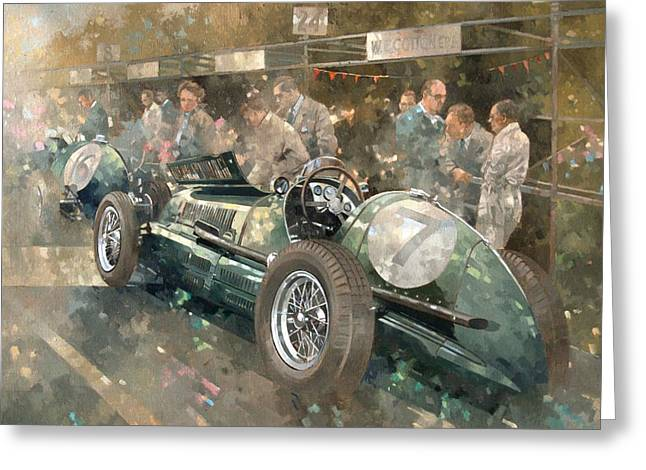 R. Parnell's Maserati  Greeting Card by Peter Miller