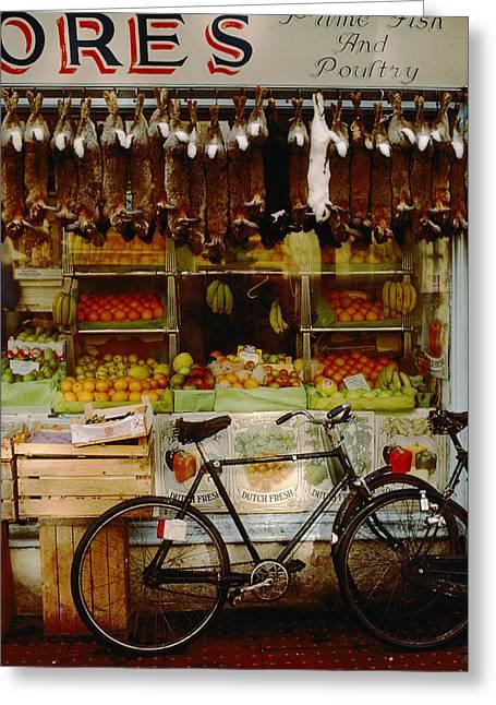Rabbits Hang  Over A Display Of Fresh Greeting Card