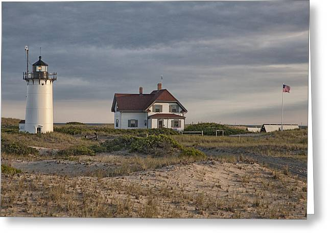 Race Point Lighthouse Greeting Card by Nicholas Palmieri