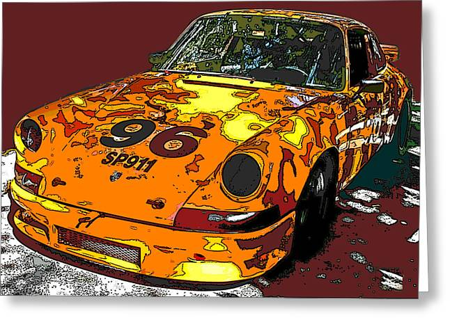 Racing Porsche Sp911 Greeting Card by Samuel Sheats