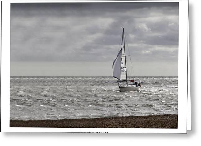 Racing The Weather Greeting Card by Nigel Jones