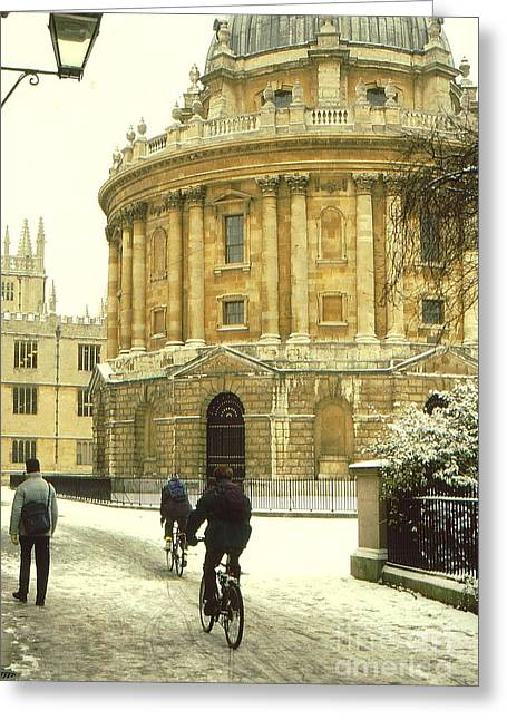 Radcliffe Camera In The Snow Greeting Card