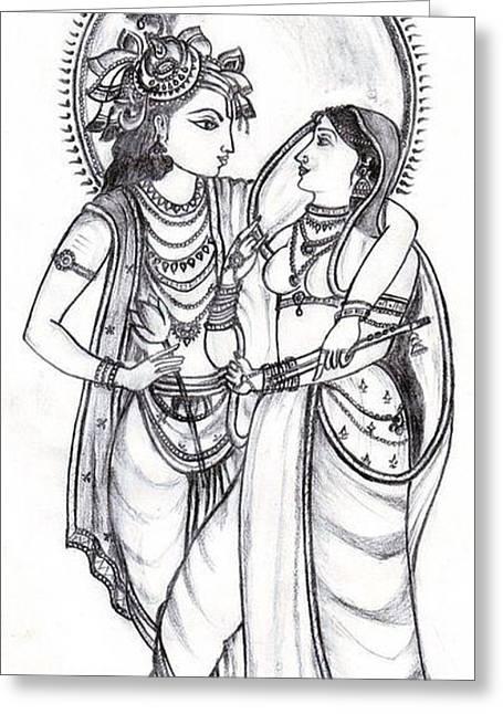 Line Art Radha Krishna : Radha krishna drawing by tapaswi kanagala