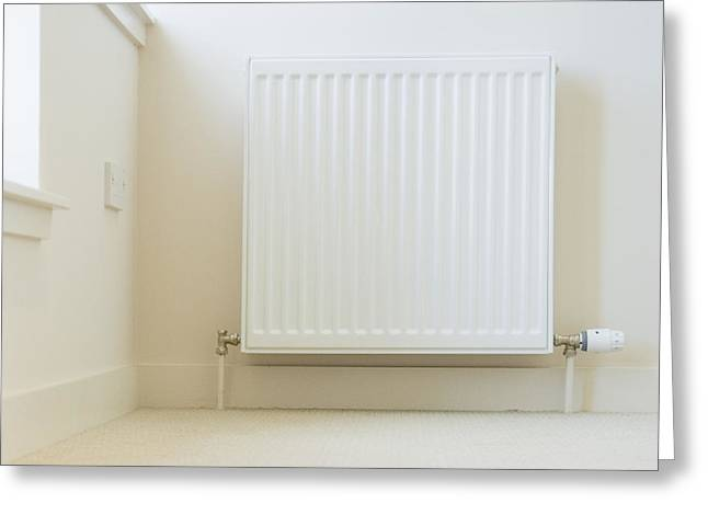 Radiator In Modern Home Greeting Card by Iain Sarjeant