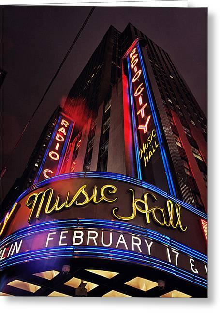 Radio City Music Hall Greeting Card by Benjamin Matthijs