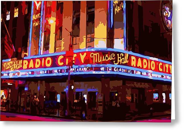 Radio City Music Hall Color 16 Greeting Card by Scott Kelley