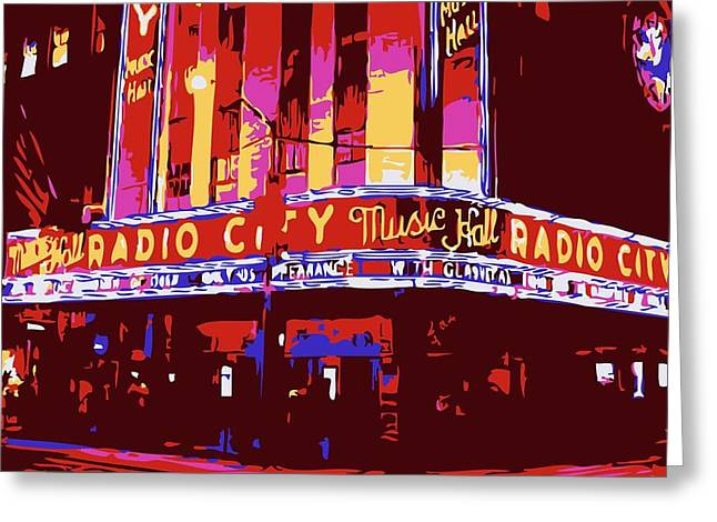 Radio City Music Hall Color 6 Greeting Card by Scott Kelley