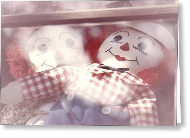 Raggedy Ann And Andy Greeting Card by Garry McMichael