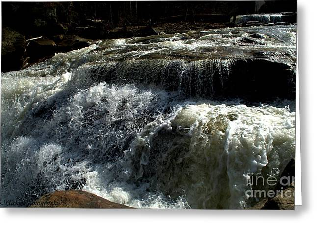Raging Water Greeting Card by Melissa Nickle