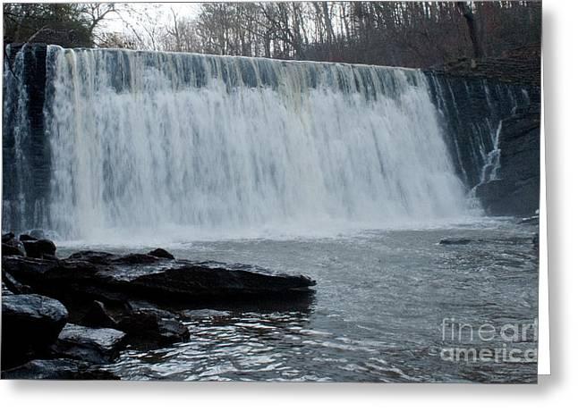 Raging Waterfall Greeting Card