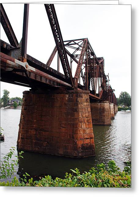 Greeting Card featuring the photograph Railroad Bridge 1 by Kay Lovingood
