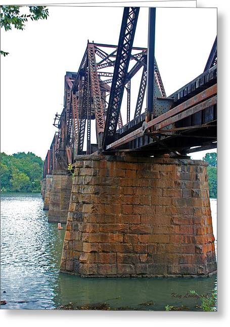 Greeting Card featuring the photograph Railroad Bridge 2 by Kay Lovingood