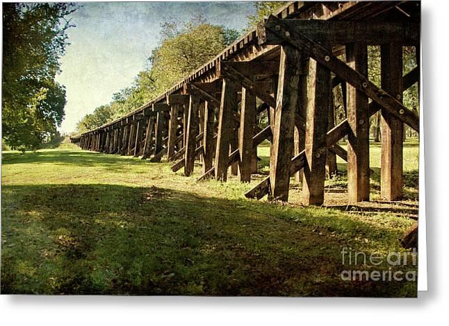 Railroad Bridge Greeting Card by Tamyra Ayles