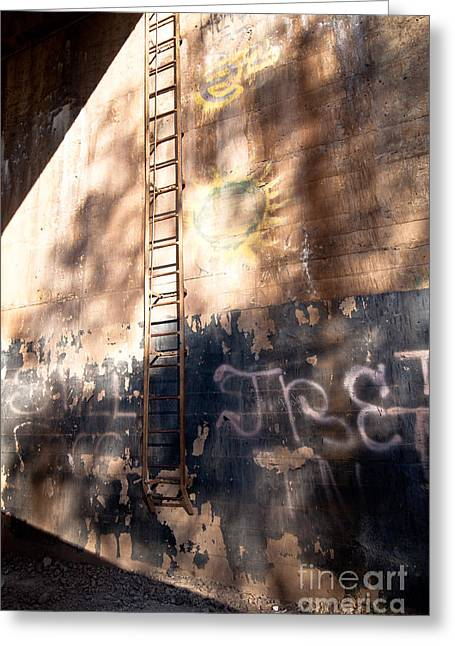 Greeting Card featuring the photograph Railroad Graffiti by Lawrence Burry