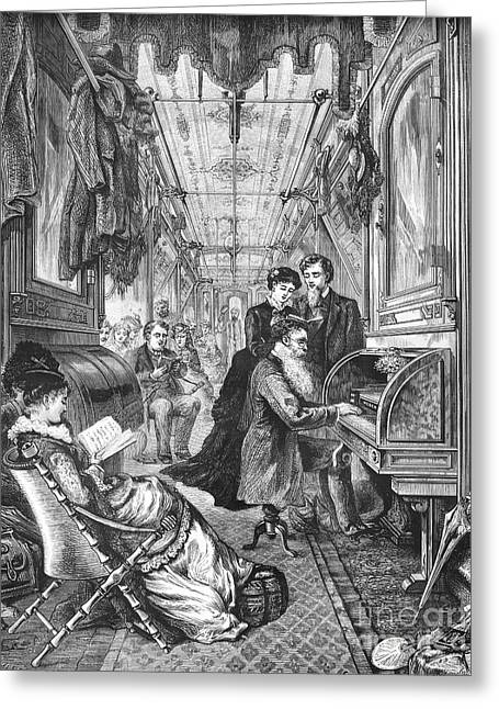Railroad: Interior, 1876 Greeting Card by Granger