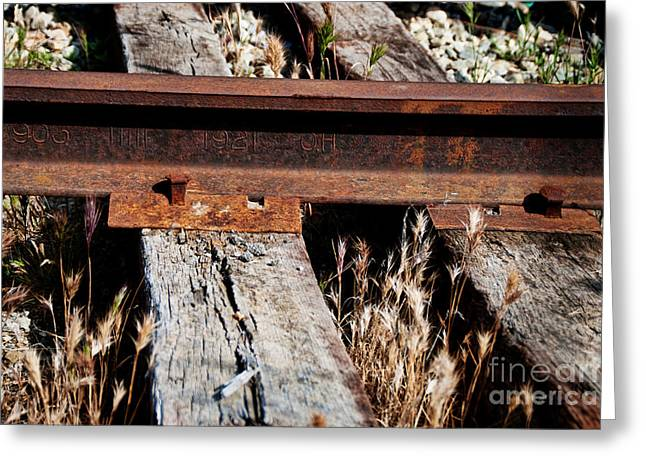Railroad Track Circa 1921 Greeting Card