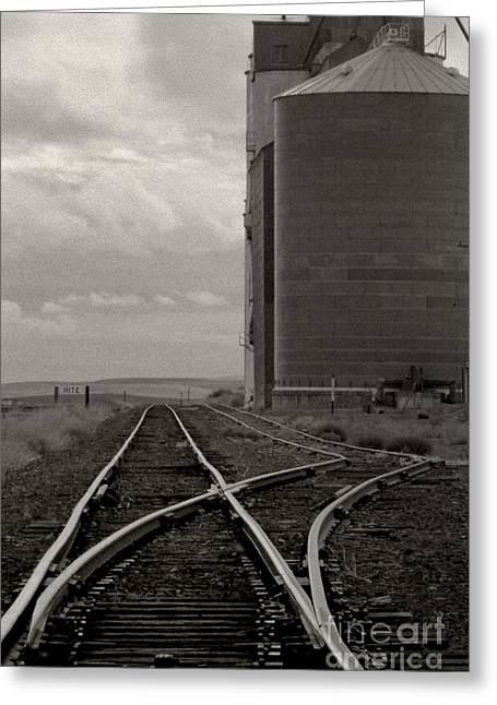 Railroad Tracks Hite Washington Greeting Card by Larry Lawhead
