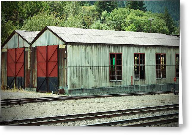 Railroad Woodshed 2 Greeting Card by Holly Blunkall