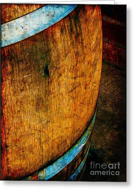 Rain Barrel Greeting Card by Judi Bagwell