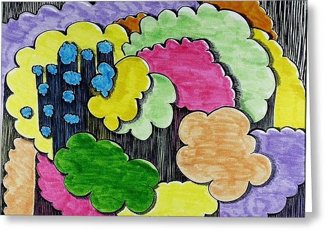 Rain Clouds Greeting Card by Lesa Weller