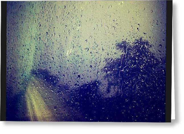 Rain Drops Greeting Card by Sumit Jain