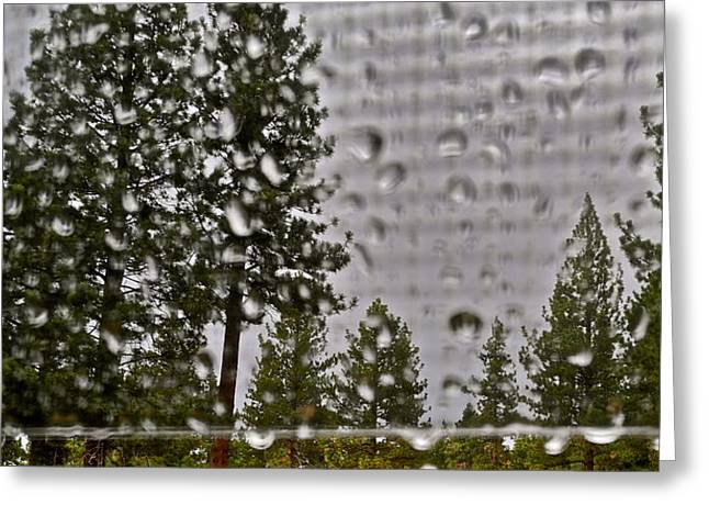 Rain On My Windowpane Greeting Card by Kirsten Giving