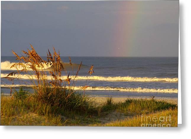 Rainbow - Saint Augustine Beach Greeting Card by Jon Hartman