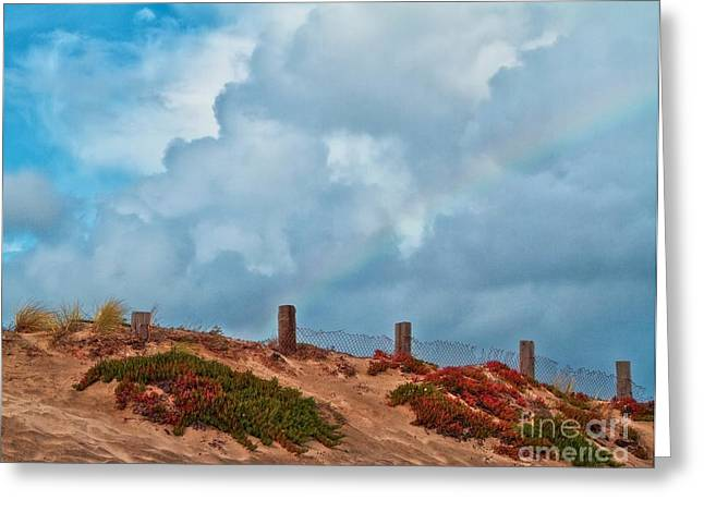 Rainbow After Passing Storm Greeting Card by Gus McCrea