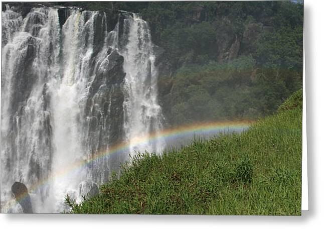 rainbow at Victoria falls Greeting Card