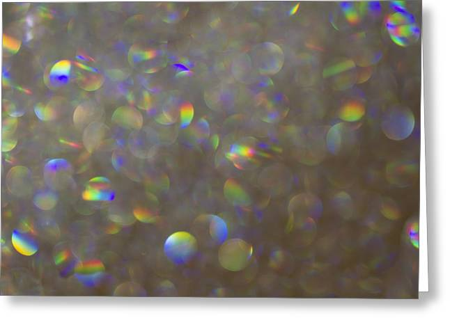 Rainbow Bokeh. Greeting Card by Clare Bambers